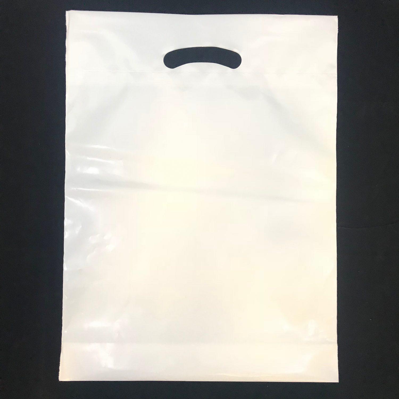 24″ X 23″ X 4″BG WHITE REINFORCED DIE CUT BAGS – 500/CS