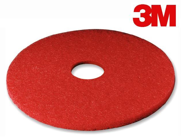 13″ 3M FLOOR PAD RED POLISHING – 5/CS