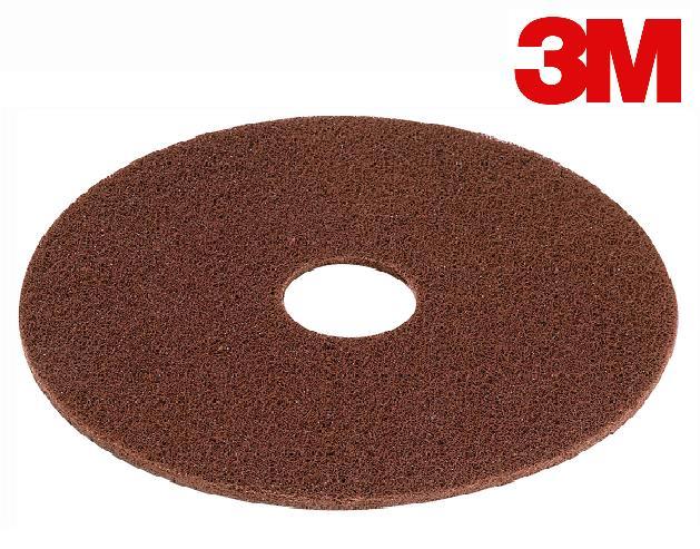 14″ 3M FLOOR PAD BROWN WET/DRY STRIPPING – 5/CS