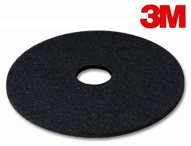 14″ 3M FLOOR PAD BLACK STRIPPING – 5/CS