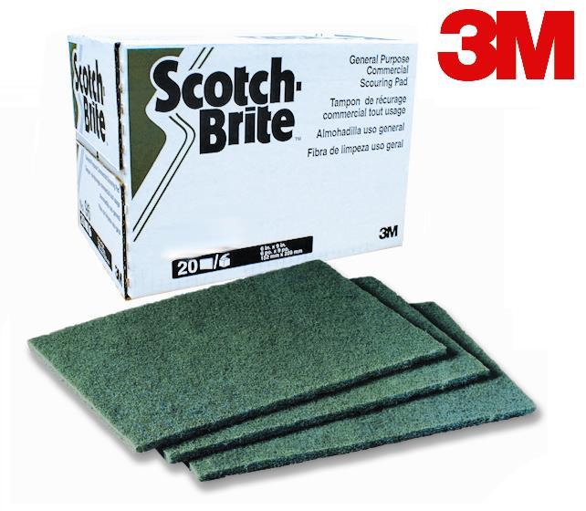 # 97 MEDIUM DUTY SCOURING PADS 6″ X 9″ GREEN – 10/BOX
