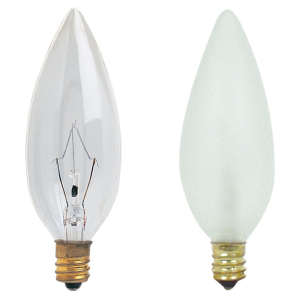 60 WATTS FROSTED CANDELAR LIGHT BULB SMALL BASE – UNIT