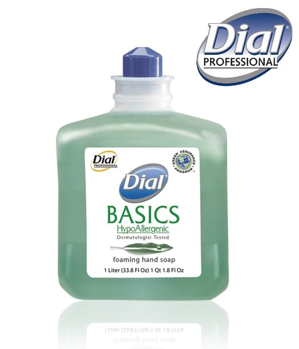 DIAL BASICS FOAMING HAND SOAP – 6 X 1 LT /CS