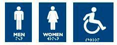 #960 SIGN FOR WASHROOMS 4″ X 6″ – MEN/HOMME
