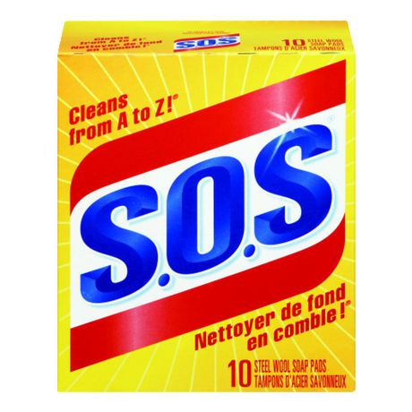 """""""S.O.S."""" FOAMING PADS FOR POT & PAN CLEANING – 10/BOX"""