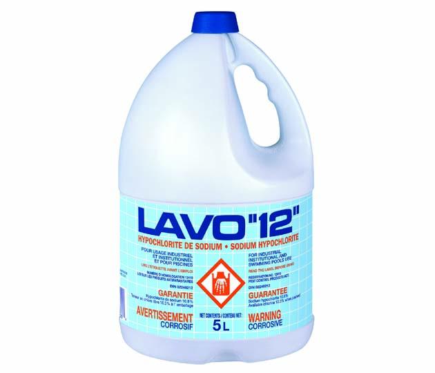 LAVO-12 – 12% JAVEL – 3 X 5 LT /CS