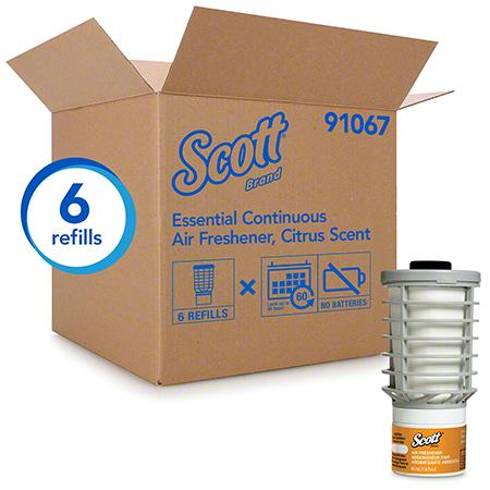 SCOTT ESSENTIAL CONTINUOUS AIR FRESHENER CITRUS – 6 /CS