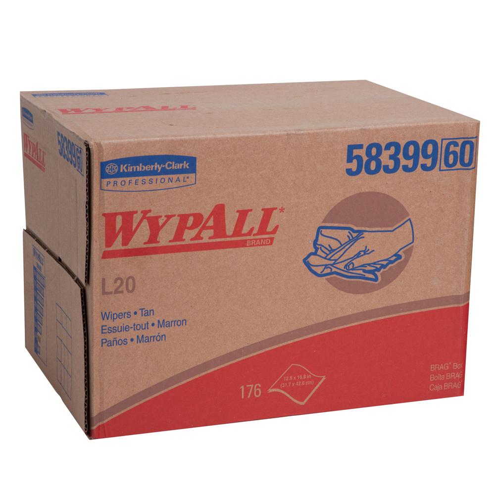 WYPALL L20 WIPER CLOTHS 12.5″ X 13″ BROWN – 12 X 68 /CS
