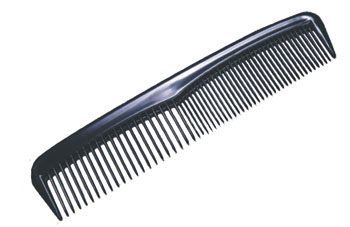 BLACK 5″ DIPOSABLE HAIR COMB IND WRAPPED – 144/PK