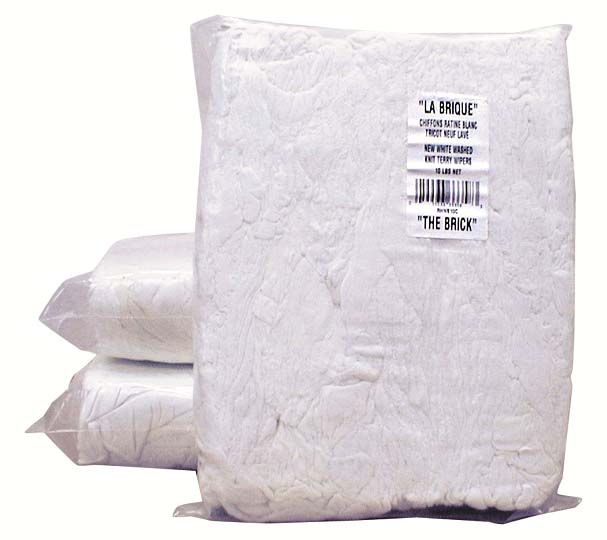 ASSORTED WHITE NEW TERRY CLOTHS – 8 POUNDS /PKG