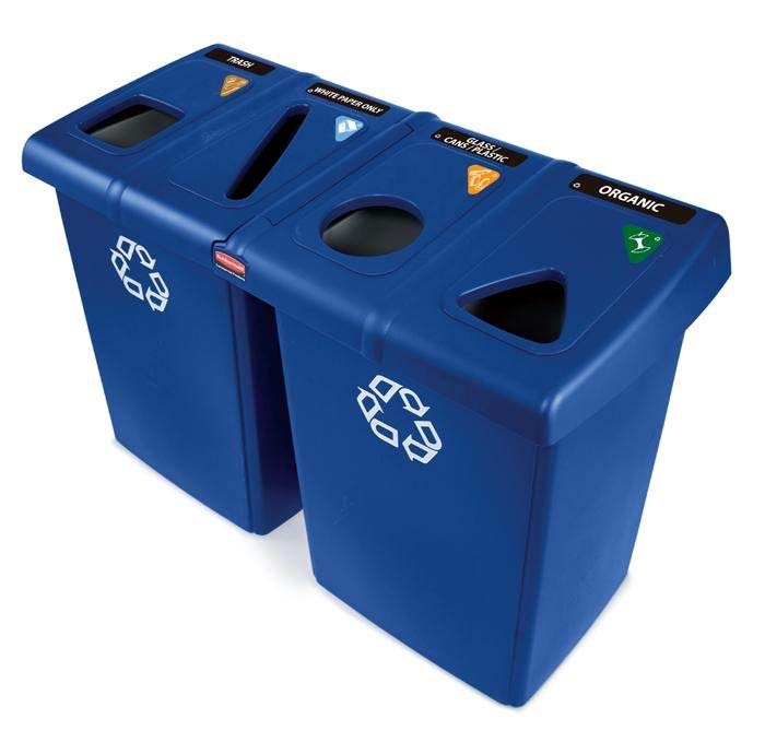#256 WASTE AND RECYCLING STATION 92 GA BLUE