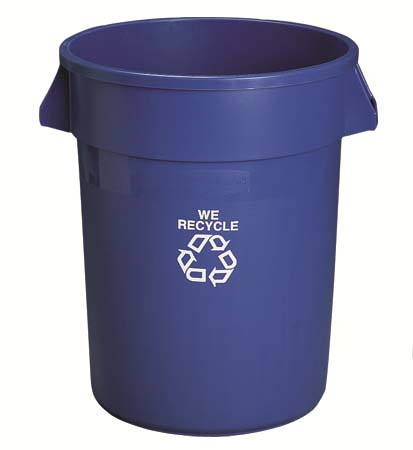 """#2643 BLUE RECYCLE ROUND CONTAINER 24 X 31½""""h 44 GA"""