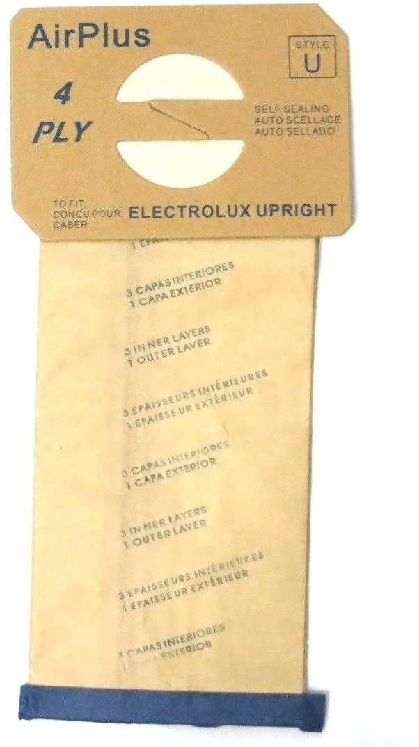 """ELECTROLUX"" VACUUM BAGS, TYPE U – 12/PKG"
