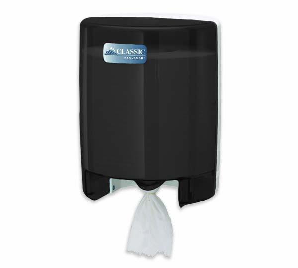 CENTER-PULL PLASTIC HAND PAPER DISPENSER, BLACK