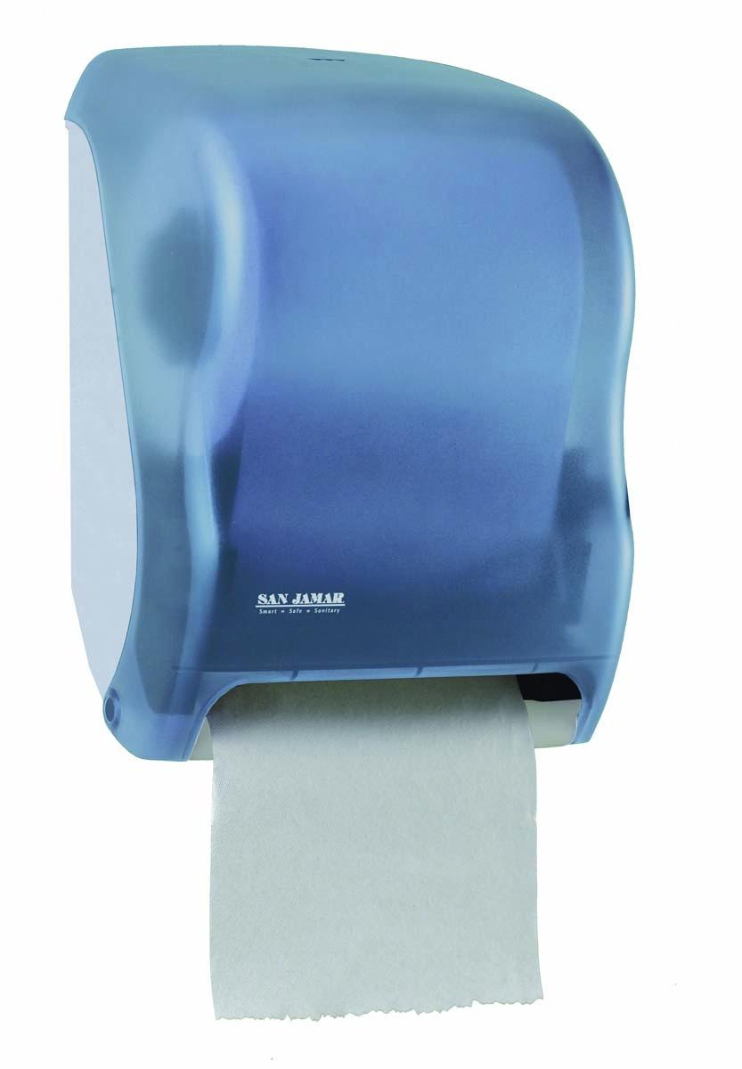 TEAR-N-DRY TOUCHLESS HAND PAPER DISPENSER, BLUE