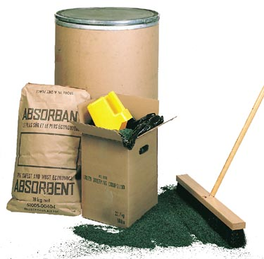 GREEN SWEEPING COMPOUND – 300 POUNDS