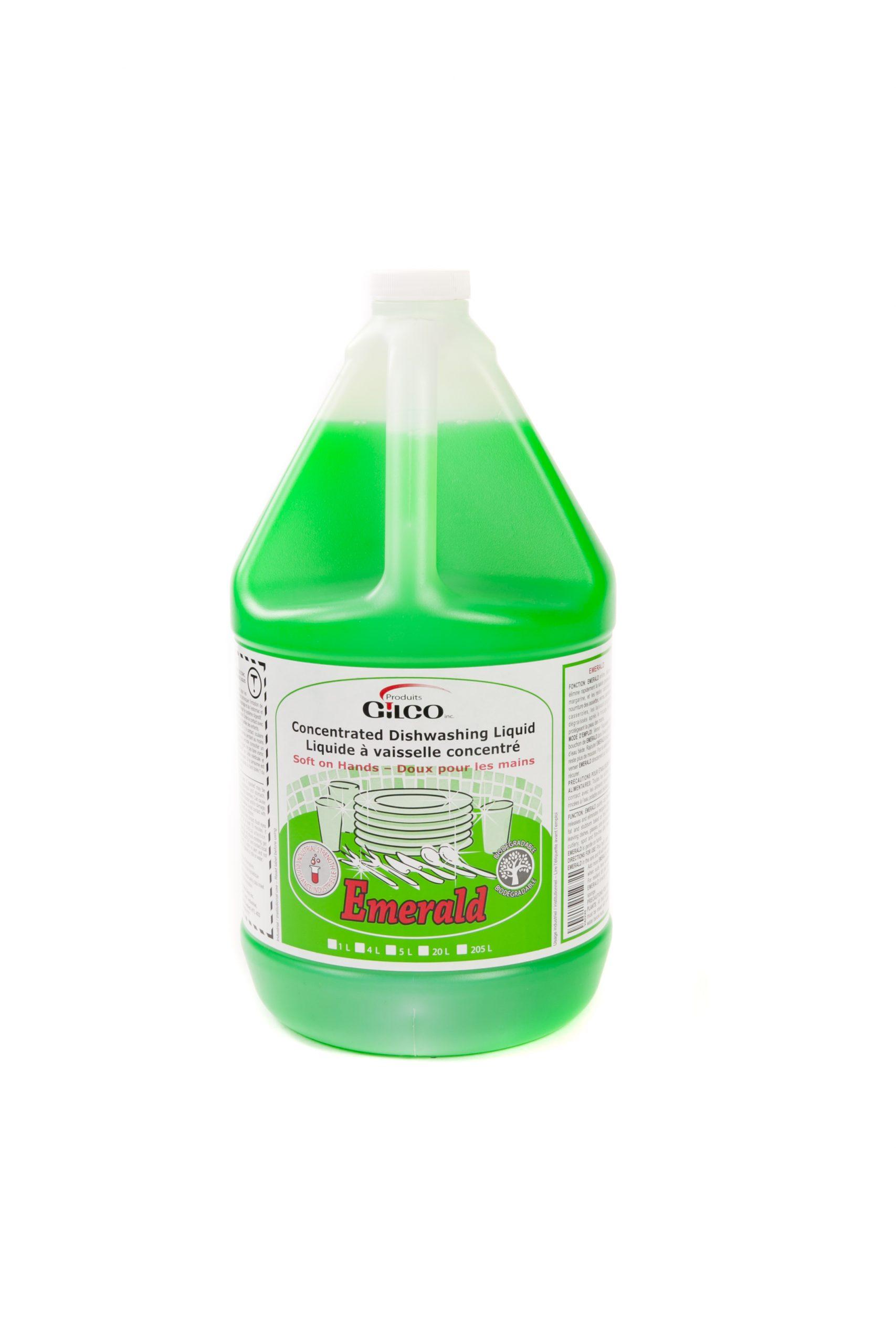 EMERALD GREEN LIQ DISHWASHING DETERGENT – 4 X 4LT /CS