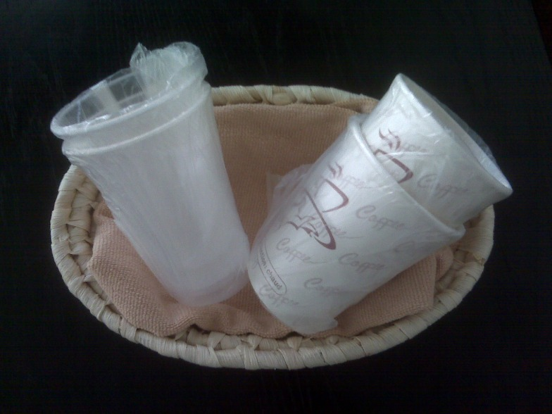 9 OZ. CLEAR PLASTIC CUPS, IND WRAPPED – 1000/CS