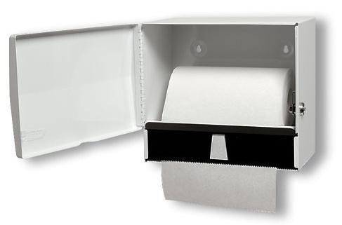UNIVERSAL HAND PAPER DISPENSER 8″-10″RL-S, W/LOCK WHITE